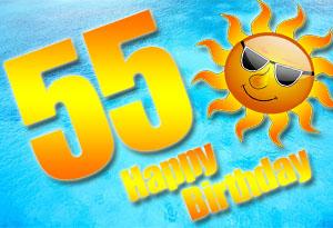 55. Geburtstag Glückwünsche und Sprüche