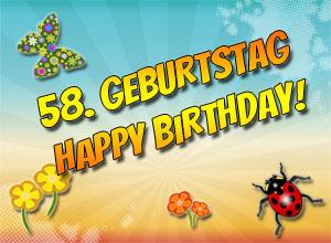 58. Geburtstag Glückwünsche und Sprüche