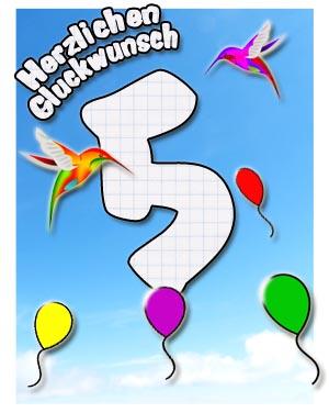 5. Geburtstag Glückwünsche für Kinder
