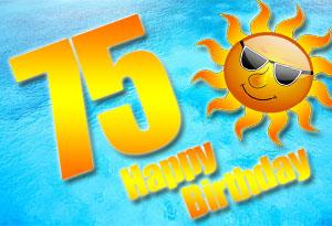 75. Geburtstag Glückwünsche und Sprüche