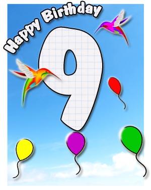 9. Geburtstag Glückwünsche und Sprüche