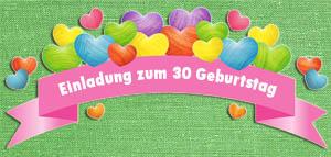 Lustige Einladungstexte zum 30. Geburtstag