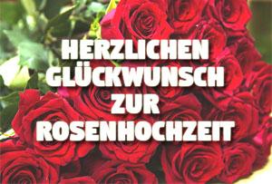 Rosenhochzeit Glückwünsche und Sprüche zum 10. Hochzeitstag